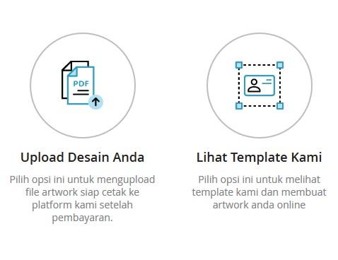 Jika memiliki desain sendiri dapat diunggah dalam format pdf
