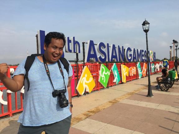 Ayo dukung Timnas Indonesia di Asian Games ke 18 di Palembang.